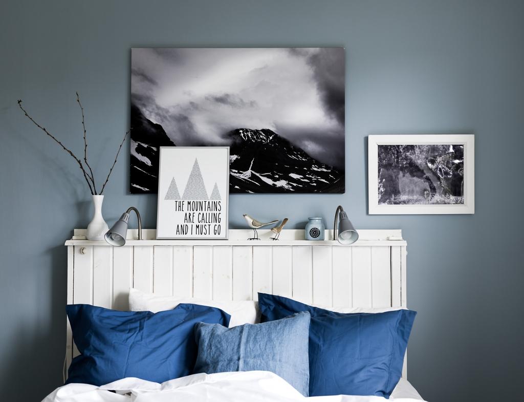 witte-houten-hoofdsteun-bed