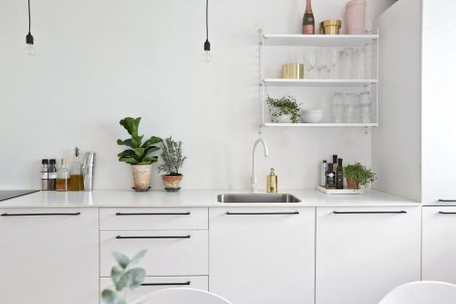 Witte Scandinavische keuken