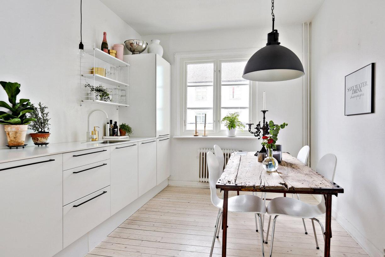 Keuken Interieur Scandinavisch : Witte scandinavische keuken huis inrichten