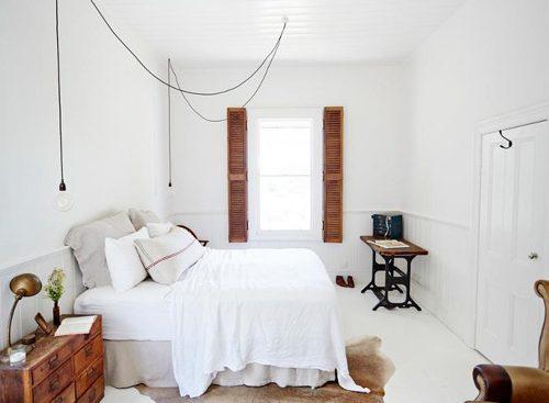Witte slaapkamer Australië