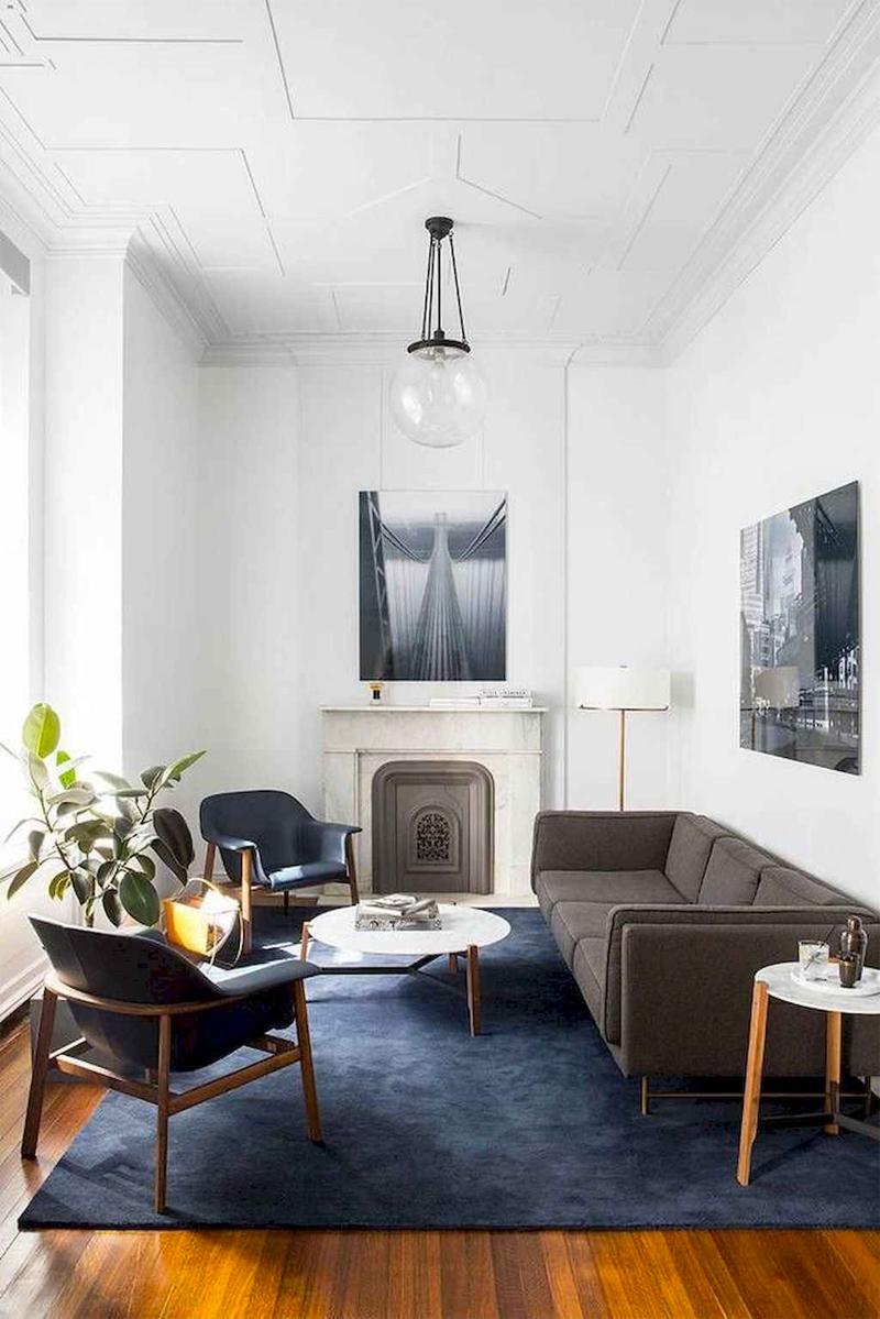 woonkamer groot donkerblauw vloerkleed