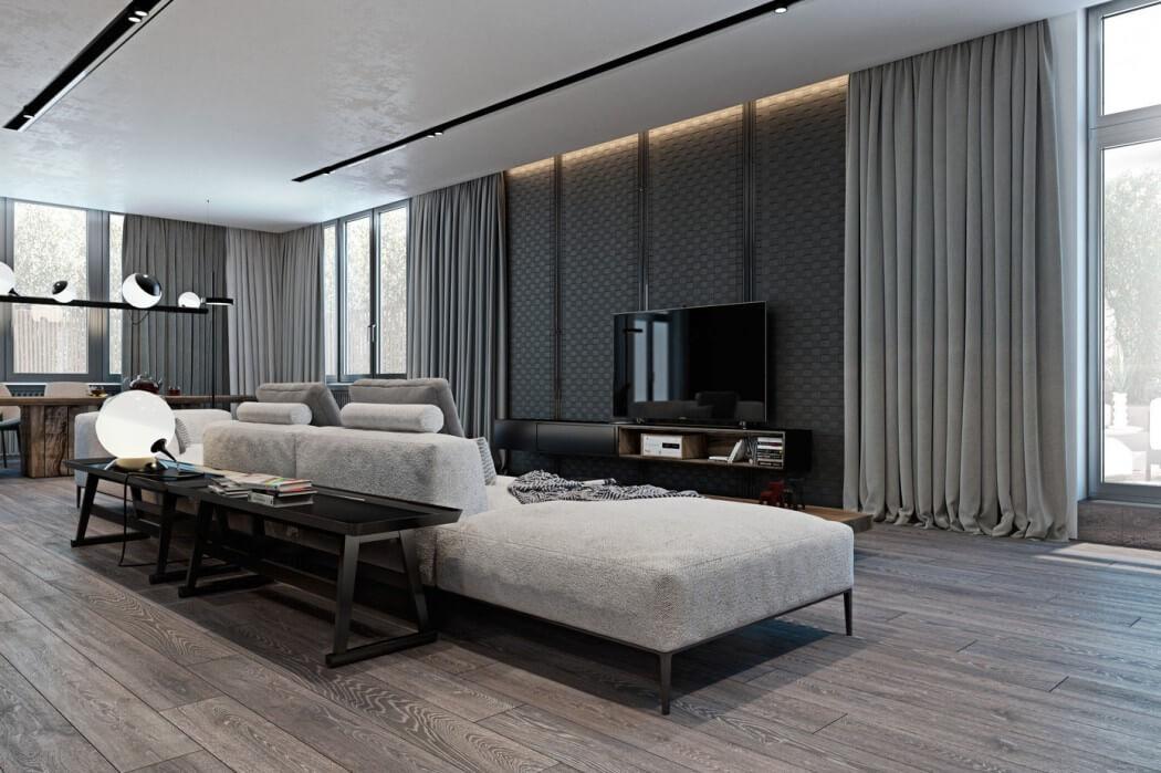 woonkamer ideeen moderne luxe woonkamer met bankje achter de bank