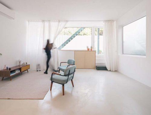 woonkamer ideeën minimalistisch wit