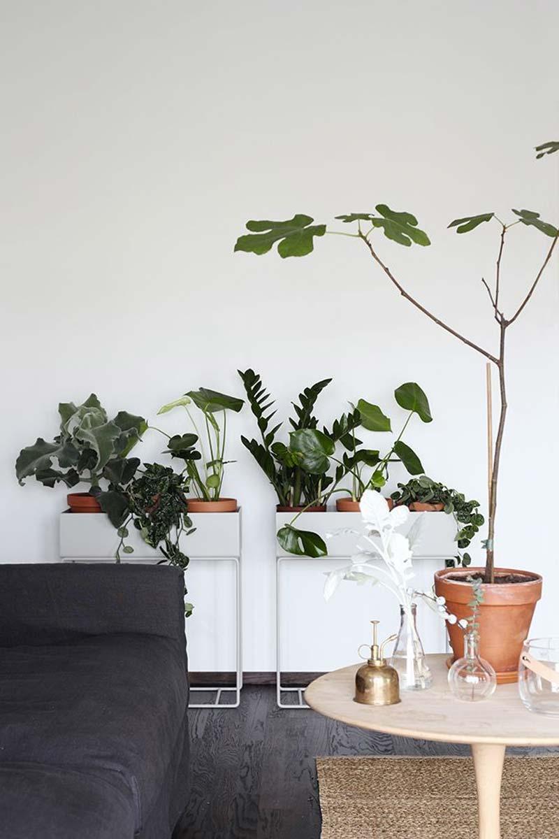 woonkamer ideeen plantenbak van Ferm Living