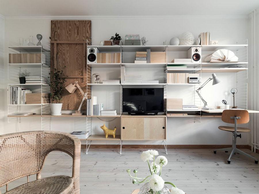 Woonkamer Kast Inrichten : Woonkamer met een grote multifunctionele string kast huis