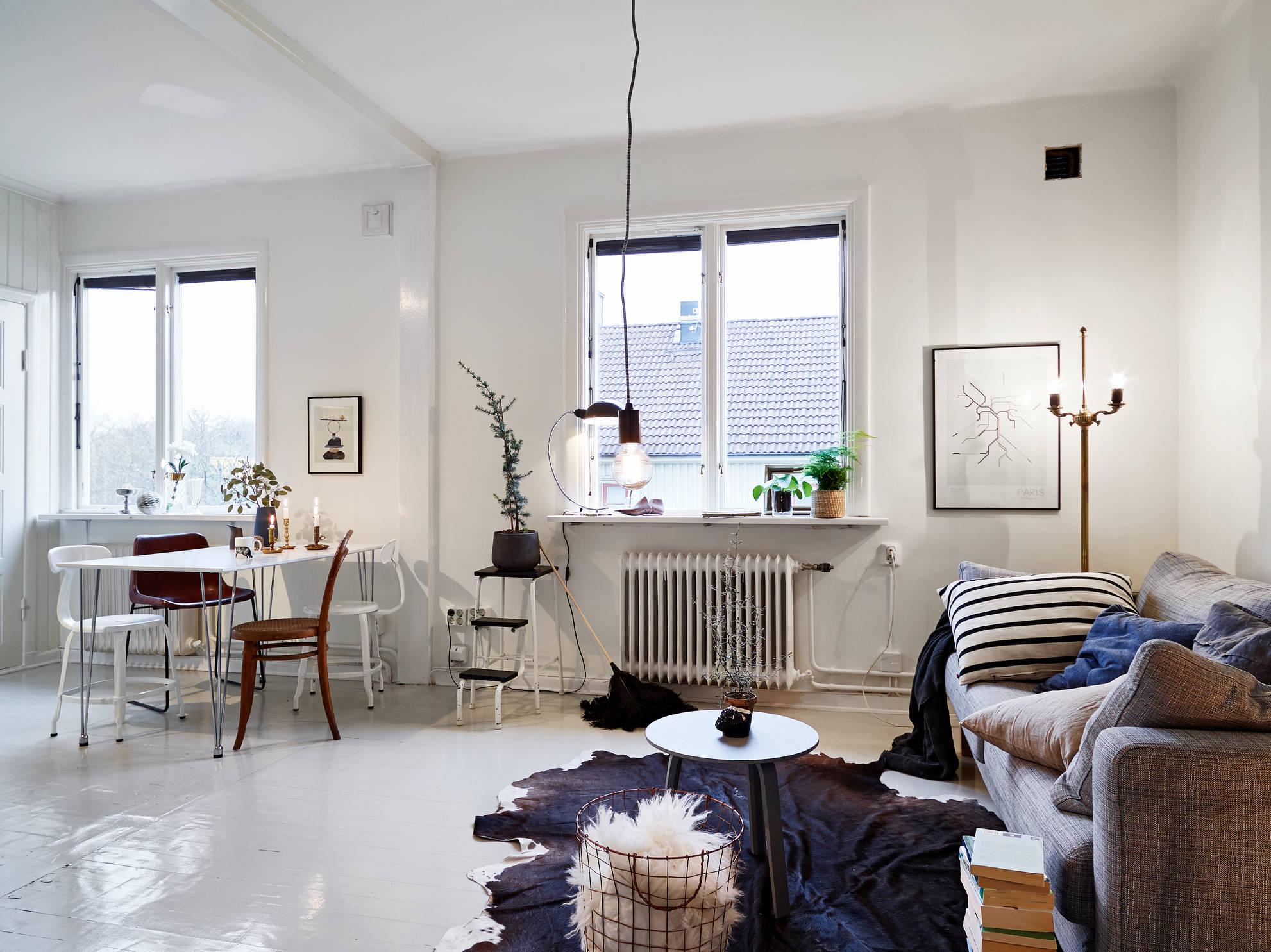 Woonkamer Klein Appartement : Woonkamer slaapkamer en open keuken combinatie in klein