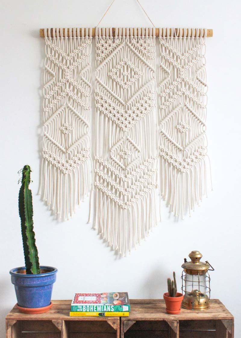woontrends 2021 diy macrame wandkleed