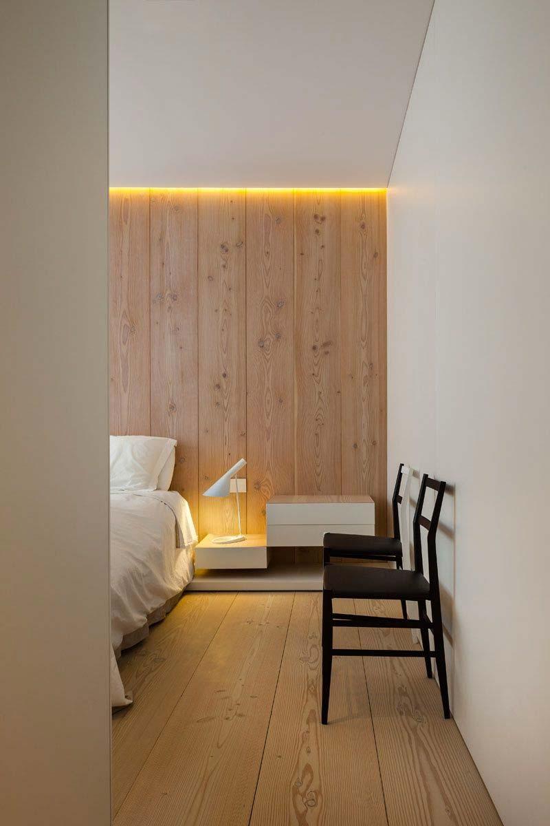 woontrends 2021 houten wandbekleding slaapkamer