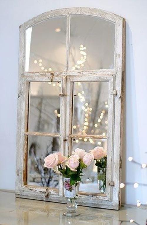 Zelf gemaakte spiegel
