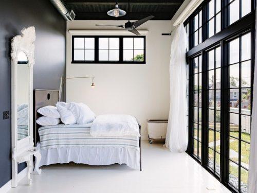 Zwart witte loft in Portland