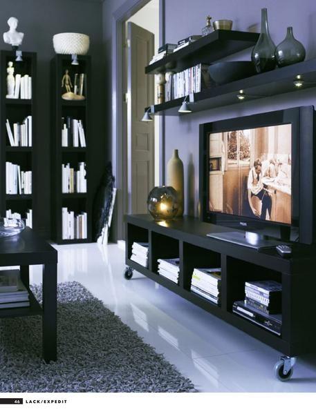 Zwarte Expedit tv-meubel