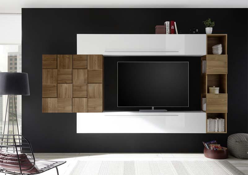 zwevende tv meubel met opbergruimte Benvenuto Design Bex TV wandmeubel